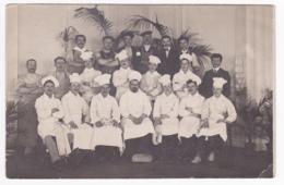 """Carte Photo - Groupe D'employés """"La Brigade"""" D'un Grand Hôtel De Paris-Plage (62) Voir Cachet D'expédition, Circ 1911 - A Identifier"""