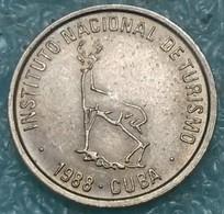 Cuba 1 Centavo, 1988 INTUR: Arabic Numerals, Deer - Cuba