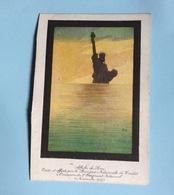 Banque Nationale Crédit Demi Calendrier Affiche Sem Statue Liberté 1918 Emprunt National 1917 - Calendriers