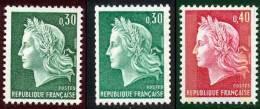 France 1967 Yvert 1536A - 1536Aa - 1536Ba  ** TB - Roulettes
