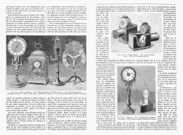 """CURIOSITES De L'HORLOGERIE   """" L' HEURE LA NUIT """"  1895 - Bijoux & Horlogerie"""