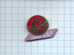 Pin's Pins / THEME Entreprise - C. E.   Thomson SINTRA / Composants Militaires Et Spatiaux ( Militaria ) - Informatique