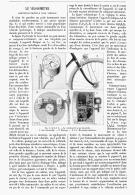 """LE VELOMETRE """" COMPTEUR-ENTRAINEUR Pour  VEHICULE """"  1895 - Transports"""