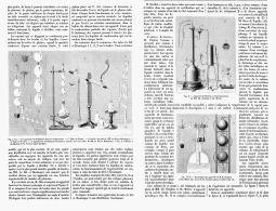 LES APPAREILS DE DISTILLATION Dans Les LABORATOIRES   1895 - Matériel Médical & Dentaire