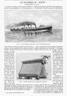 """LES CHAUDIERES Du """" HORNET """" CONTRE-TORPILLEUR ANGLAIS  1895 - Transportation"""