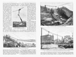 LES GRANDS TRANSPORTS Par CABLES Aux ETATS-UNIS 1895 - Sciences & Technique