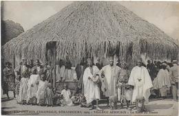 CPA - EXPOSITION COLONIALE - STRASBOURG 1924 - VILLAGE AFRICAIN - LA SALLE DE DANSE - ANIMEE - Expositions