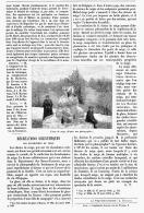 """RECREATIONS SCIENTIFIQUES """" LES BONSHOMMES DE NEIGE  """"   1895 - Sciences & Technique"""