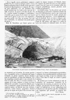 RUPTURES DE POCHES D'EAU DES GLACIERS    1895 - Sciences & Technique