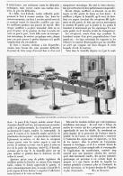 TRANSPORTEUR MECANIQUE DES BOUTEILLES AU FOURNEAU à RECUIRE Dans Les VERRERIES   1895 - Sciences & Technique