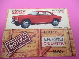 NOREV/ Boite Carton Ancienne Vide ( Manque Abattants De Côtés)/ALFA ROMEO Giulietta/1-43éme/Miniature/1955-60   VOIT40 - Other