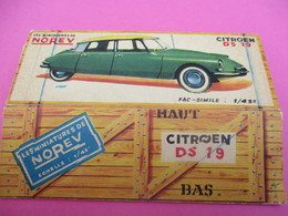 NOREV/ Boite Carton Ancienne Vide ( Manque Abattants De Côtés)/DS19 Citroën/1-43éme/Miniature/1955-60   VOIT41 - Andere