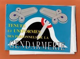 ENSEMBLE DE 18 FICHES SUR LES TENUES ET UNIFORMES DES PERSONNELS DE LA GENDARMERIE (COMPLET) - Police & Gendarmerie