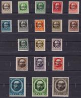 Bayer 1919 Overprint 152/170 MNH - Bayern