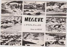 Haute  Savoie :  MEGEVE  : Vue    Sous  La  Neige - Megève