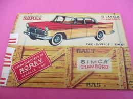 NOREV/ Boite Carton Ancienne Vide ( Manque Abattants De Côtés)/ CHAMBORD Simca /1-43éme/Miniature/1955-60   VOIT43 - Altri