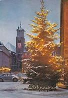 Postcard Frohe Reihnachten Und Ein Gluckliches Neues Jahr [ VW Beetle In Snow Front Left ] My Ref  B22905 - New Year