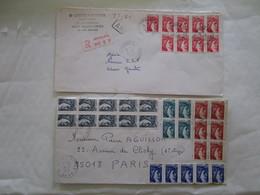 Lot De 6 Lettres  Affranchis Liberté Et Sabine De Gandon - Malte (Ordre De)