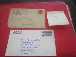 Bundle Of 2 Lettres 1902 ETATS-UNIS UNITED STATES USA-Timbre De Collection-Hotel-Marcophilie-Faire Défiler Images & Voir - Brieven En Documenten
