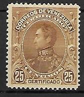 VENEZUELA   -  Pour Lettres Recommandées  -    1899 .  Y&T N° 1 (*) - Venezuela