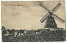 Sodra Kvarn Simrishamm Moulin à Vent Windmill  . P . Used  To Rue Du Sahel 51 Paris 12 Face Gare De Bel Air - Suède