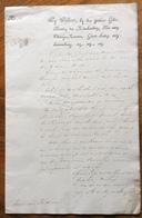 """NEDERLAND  LETTERA  MANOSCRITTA  """" WY WILLEM ..KONING DER NEDERLANDEN...ORANGE-NASSAU IN DATA  10/3/1822 - Historical Documents"""