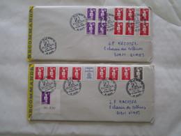Lot De 6 Lettres Recommandées Marianne Du Bicentenaire Et Autres - Malte (Ordre De)