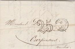 Lettre Entête Ferraton Journoud Ex Neyrand ST CHAMOND Loire 27/3/1853 Taxe Double Trait Pour Carpentras Vaucluse - Postmark Collection (Covers)