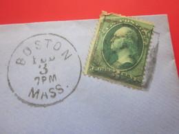 BOSTON 1880-Amérique-Etats-Unis USA-1847-99 Emissions Général- Letter-Document- Marcophilie -Faire Défiler Images & Voir - Covers & Documents