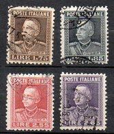1927 - Regno Emanuele III  N. 214 - 17 Serie Completa Timbrata Used - 1900-44 Victor Emmanuel III