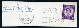 FRANKING - MARITIME MAIL POST OFFICE (MALTA) - 1952-.... (Elizabeth II)