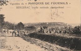 """R15- 24) BERGERAC  (DORDOGNE)  VIGNOBLES DU """" MARQUIS DE FOURNILS """" VIEILLE MÉTHODE CHAMPENOISE  - (2 SCANS) - Bergerac"""