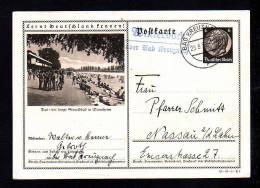 """Stempel """"Winterbach über Bad Kreuznach"""" - 6 Pf. Bild Ganzsache """"Mannheim"""" - Allemagne"""