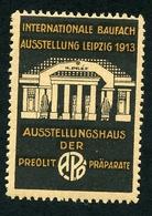 CINDERELLA : INTERNATIONALE BAUFACH AUSSTELLUNG - LEIPZIG 1913 - Cinderellas