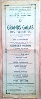 71 MONTCEAU Les MINES 1946 Galas Au Profit Des Sinistrés De LUTTERBACH Programme Aide Après Bombardement De La Ville - Programmes