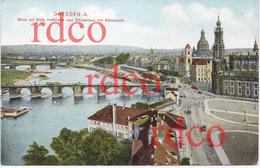 DEUTSCHLAND Dresden, Blick Auf Kath Hofkirche Und Ständehaus Mit Elbansicht; Germany - Dresden