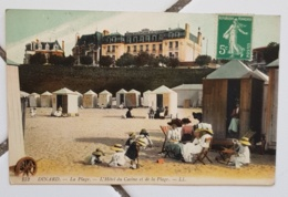 DINARD (35), La Plage. L'hotel Du Casino Et De La Plage - Dinard