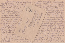 1940 FELDPOST BRIEF Mit Inhalt, Gel.v. Feldpostnummer 09569 > RIEDLINGSDORF 184, KREIS OBERWART, GAU STEIERMARK - Germany