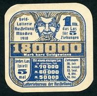 CINDERELLA : GELD LOTTERIE AUSSTELLUNG - MUNCHEN 1910 - Cinderellas