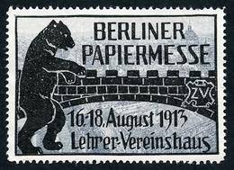 CINDERELLA : BERLINER PAPIERMESSE 1913 - Cinderellas