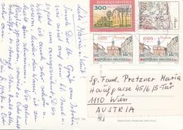 HRVATSKA 1984? - 4 Fach MIF Auf Ak ROVINC, Ecken Bestossen - 1945-1992 Sozialistische Föderative Republik Jugoslawien