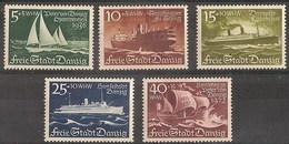 Danzig 246/250 * Charnela. 1938 - Danzig