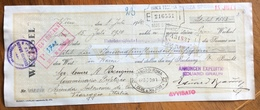 CAMBIALE WECHSEL WIEN 1930  DA EDUARD BRAUN A VIAREGGIO  CON MARCHE DA BOLLO  TIMBRI FIRME - Cambiali