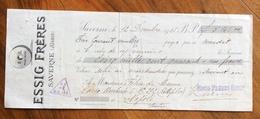CAMBIALE WECHSEL  LAVERNE (ALSACE) ESSIG FRERES  1825  PER FELICE DI MANNA NAPOLI CON  MARCHE DA BOLLO  TIMBRI FIRME - Cambiali