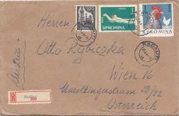 R-Brief ROMINA Gel.1964 Mit 1 + 1 + 1,2 L Frankierung, Brief Mit Inhalt - 1948-.... Republiken