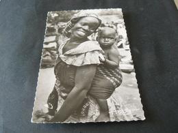 1953 ANCIENT BEAUTIFUL POSTCARD OF WOMAN OF COTE D 'IVOIRE / CARTOLINA VIAGGIATA DA COSTA D'AVORIO - Côte-d'Ivoire