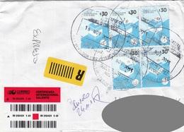 R-Brief ARGENTINIEN Gel.2015 Mit 5x30 $ Frankierung - Luftpost