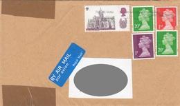 Brief ENGLAND Gel.201? Mit 5 D + 1 + 2x20 P + 1 ST Frankierung - 1952-.... (Elisabeth II.)