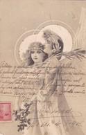 ANGELS AVEC LAURIERS. DETAILS EN DOREEE. RARE CORRESPONDANCE ARISTOCRATIE ARGENTINE CIRCA 1903- BLEUP - Engelen