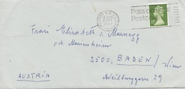 Brief ENGLAND Gel.1987 Mit 22 P Frankierung - 1952-.... (Elisabeth II.)